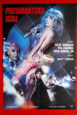 FAKE-OUT SEXY PIA ZADORA TELLY SAVALAS 1982 VINTAGE RARE EXYU MOVIE POSTER