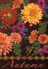 "Autumn Floral Garden Flag Mums Fall Flowers Briarwood Lane 12.5"" x 18"""