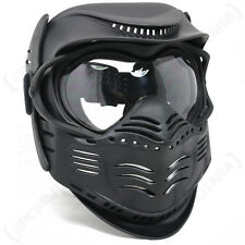 BLACK Paintball MASK-Airsoft Completo Viso Protezione Con Occhiali Tactical Gear