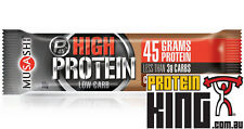 MUSASHI P45 HIGH PROTEIN LOW CARB BARS 12x 90G MILK CHOC BROWNIE DELICIOUS QUEST