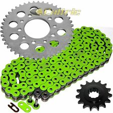 Green O-Ring Drive Chain & Sprockets Kit Fits HONDA CBR600F Hurricane 1987-1990