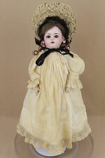 "17"" antique bisque head German SPECIAL doll with leather body Adolph Wislizenus"