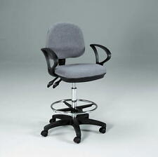 GRAY | ADJUST & TILT Drafting Counter Height Chair Stool | NEW