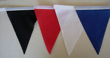 South Korea Black Red White& Blue Football Rugby Bunting, Decoration 2 mtrs.