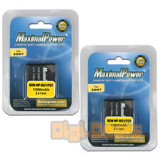 BATTERY x 2 for Sony NP-BG1 NP-FG1 NPBG1 CyberShot DSC-W200 Camera TWO BATTERIES