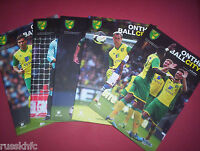 2013/14 - NORWICH HOME PROGRAMMES CHOOSE FROM