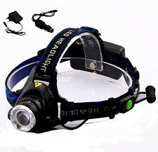 Cree T6 led 2000 Lumens Headlamp flashlight torch Frontale AC Home Car Charger