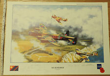 Ross Watton Print Signed By Artist & Crew Members Spitfires Dennis David (3630
