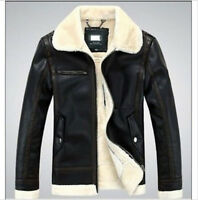 winter genuine leather coat Mens real fur parka Fleece Jacket trench jacket c55