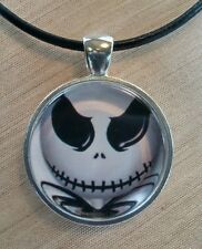 "Tim Burton's Halloween Night Before Christmas ""JACK"" Glass Pendant"