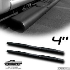 "4"" MATTE BLK OVAL SIDE STEP NERF BAR RUNNING BOARD 99-14 CHEVY SILVERADO EXT CAB"
