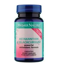 Higher Nature Astaxanthin & Blackcurrant Antioxidant 30 vegan capsules