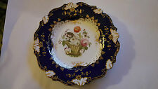 English Porcelain Cabinet Plate mid 19th Century Handpainted 23 cm diameter