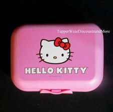 Tupperware New Oyster Packable Storage Container Hinged Design Hello Kitty PINK