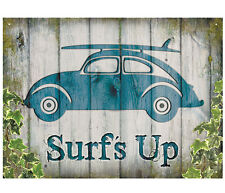 Large VW Bug Surf Vintage Metal Tin Sign Poster Bar Garage Wall Decor 40x30cm