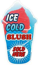 Slush blue shaped Ice Cold Sold Here  LARGE STICKER DECAL CUT UV LAMINATED