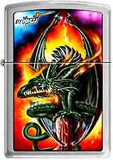 Zippo 7947 mazzi green dragon RARE & DISCONTINUED Lighter