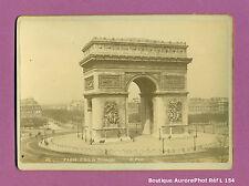 CDV FORMAT CABINET : PARIS, L'ARC DE TRIOMPHE VERS 1880 , MONUMENT  -L154