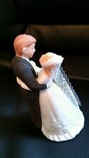 Vintage Wedding cake topper Lefton 05509 bride groom marriage porcelain sweet