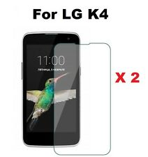 2 X Clear Glossy Screen Protector Cover LG K4 + Cleaning Cloth