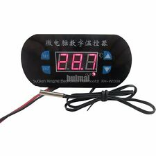 RED 12V Heat Cool Thermostat Temperature High Low Alarm Control Switch -55-120C