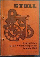 Stoll Ersatzteilliste für C- Bunkerkopfröder