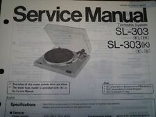 TECHNICS SL-303 SL-303K Turntable Service manual wiring parts diagram