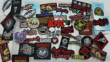 Iron on patches 50 Wholesale Joblot Rock band mix cheap