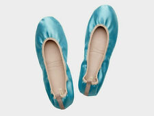 MIMCO Something Blue Ballet Size Large BNWT Silk Satin Wedding Shoes Flats