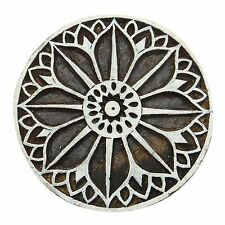 Floral Indian Wood Stamps Art Textile Printing Block Decorative Handcarved Stamp