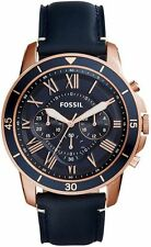 Men's Fossil Grant Sport Blue Strap Chronograph Watch FS5237