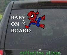 spider man / funny vinyl Car window Decal Sticker / reflective silver