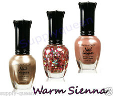 Kleancolor Warm Sienna Collection Nail Polish Lot of 3 Colors Set Lacquer