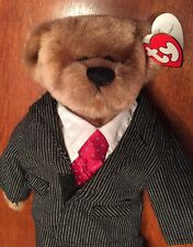 "Ty Attic Treasures ""Dressed For Success"" Bear Plush Fully Jointed William W/tag"