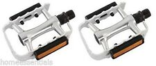 "Wellgo Mtb Pedals Bike Cycle Bicycle Alloy 9/16"" Silver BMX"