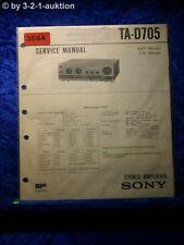 Sony Service Manual TA D705 Amplifier (#3644)