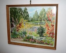 VINTAGE 1950s WATERCOLOUR SIGNED CHARLES WOODFORD TITLED CHURINGA MT DANDENONG