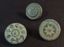 3 SMALL ANTIQUE BUTTON CENTURY XVIII OLD BOUTON BUTTON BOTON SEE MY SHOP CCB14