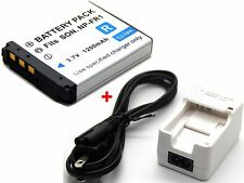 Battery & Charger for NP-FR1 Sony Cyber-shot DSC-P200 DSC-T30 DSC-T50 DSC-V3