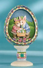 Jim Shore Heartwood Creek Easter Bunny Couple Diorama Figurine ~ 4007544