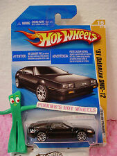 2010 #16 Prem Hot Wheels '81 DeLOREAN DMC-12 1981 ~Black ~Premier New Models