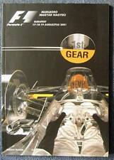 HUNGARIAN GRAND PRIX FORMULA ONE 2001 F1 BUDAPEST Official Race Programme