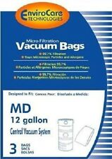 MD 12 Gallon Central Vacuum Bags (3pk) EnviroCare