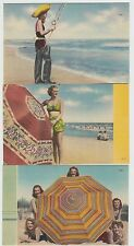 North Carolina NC 3 Postcards BATHING WOMEN FLY FISHING SHORE Waders ASHVILLE