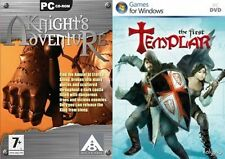 knights adventure & the first templar  new&sealed
