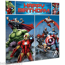 Marvel's AVENGERS HEROES Children's Party Scene Setter Wall Decorating Kit