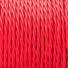 Rojo trenzado Trenzado Tejido Cable 3-core 0.5 mm para el alumbrado