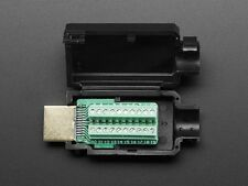 HDMI Plug to Terminal Block Breakout Male DIY Connector Plug Jack w/ Shell