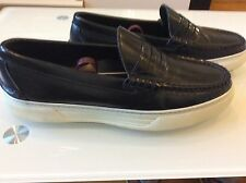 Alejandro Ingelmo Men's Black leather penny loafers  size 10 D/ 9 US $ 79.00