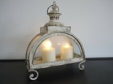 VINTAGE Shabby Chic TEA LIGHT HOLDER Bianco Arch portacandele tealight Regalo Nuovo